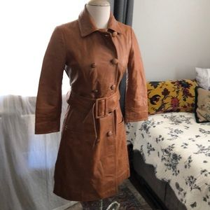 Arden B Jackets & Coats - Vintage inspired Arden B leather trench coat.